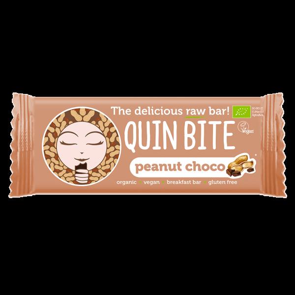 Quin Bite Bio Erdnuss-Butter Rohkost Riegel