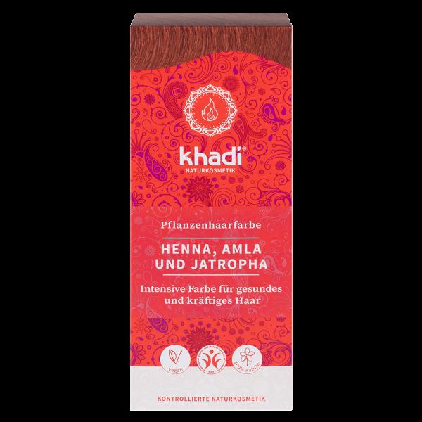 Khadi Pflanzenhaarfarbe Rot - Henna, Amla & Jatropha