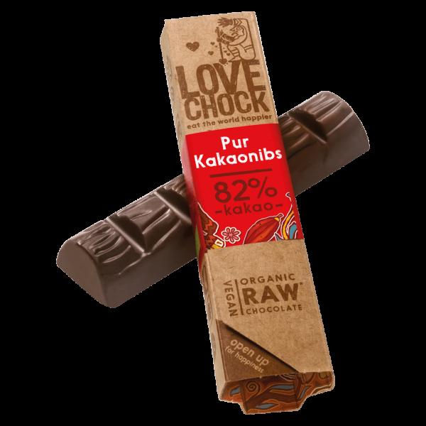 Bio Raw Pur Kakaonibs Schokoriegel