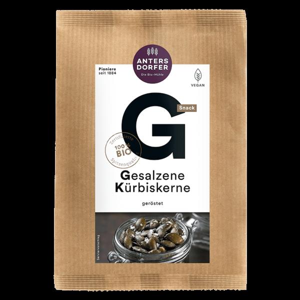 Antersdorfer Bio Gesalzene Kürbiskerne, 65 gr Packung