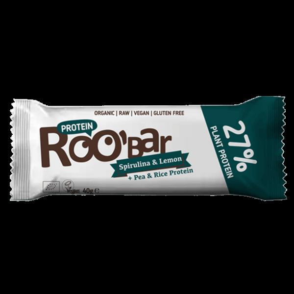 Roobar Bio Proteinriegel Spirulina und Zitrone