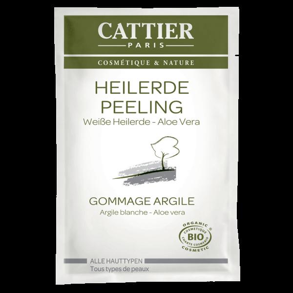 Cattier Weiße Heilerde Peeling für alle Hauttypen - Einmalanwendung, 12,5 ml