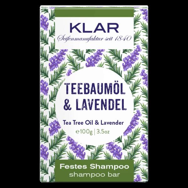 Klar Seifen Festes Shampoo Teebaumöl & Lavendel