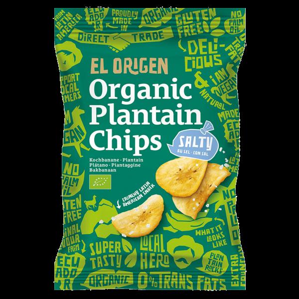 el Origen Bio Kochbananen Chips gesalzen