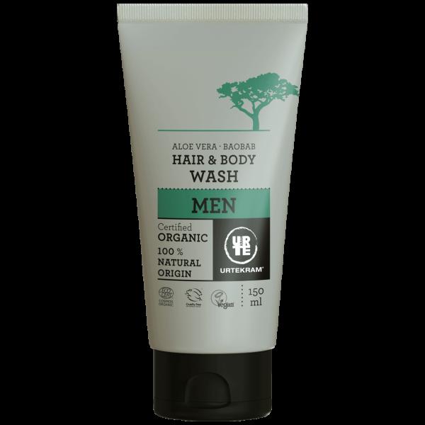 Urtekram Men Hair and Body Wash, 150ml