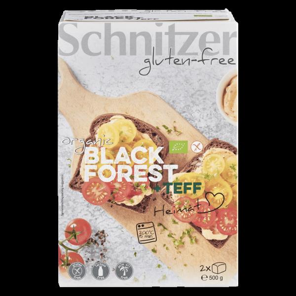 Schnitzer Bio Brot Black Forest mit Teffmehl 2 Stück 500g