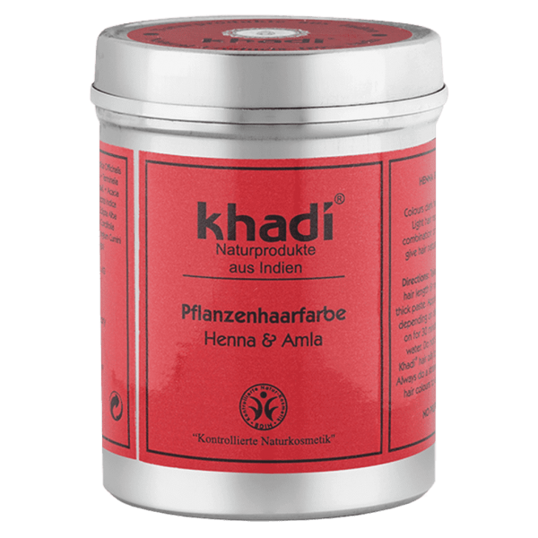 Khadi Pflanzenhaarfarbe Henna und Amla