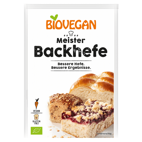 Biovegan Bio Meister Backhefe für 500g Brot