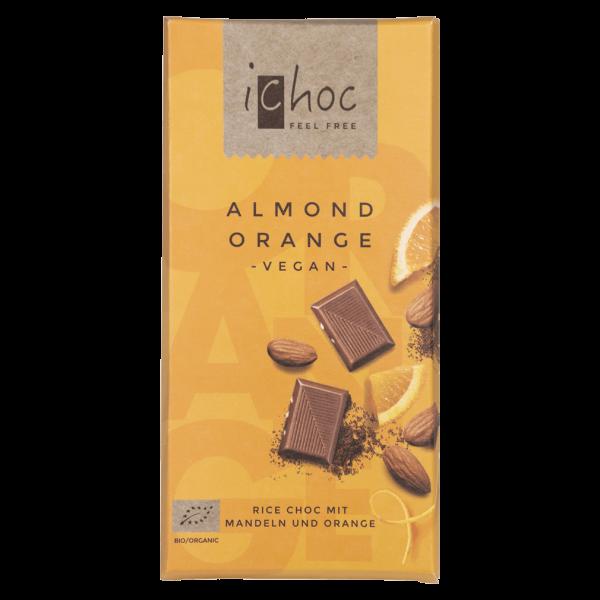 iChoc Bio Almond Orange Schokolade