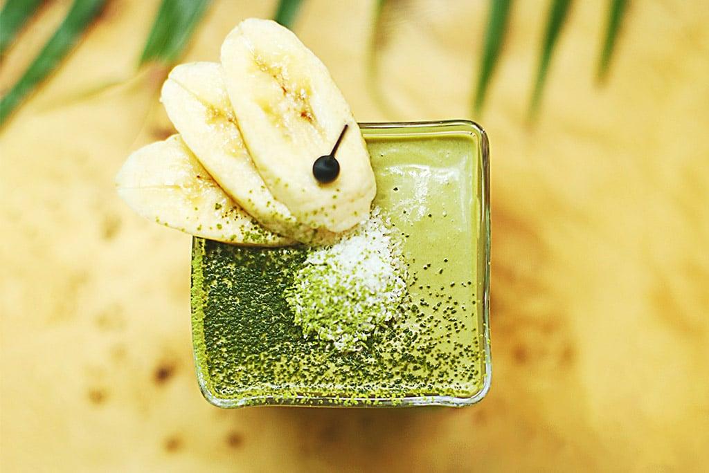 Gerstengras-Bananen Smoothie
