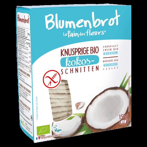 Blumenbrot Bio Knusprige Kokos-Schnitten glutenfrei