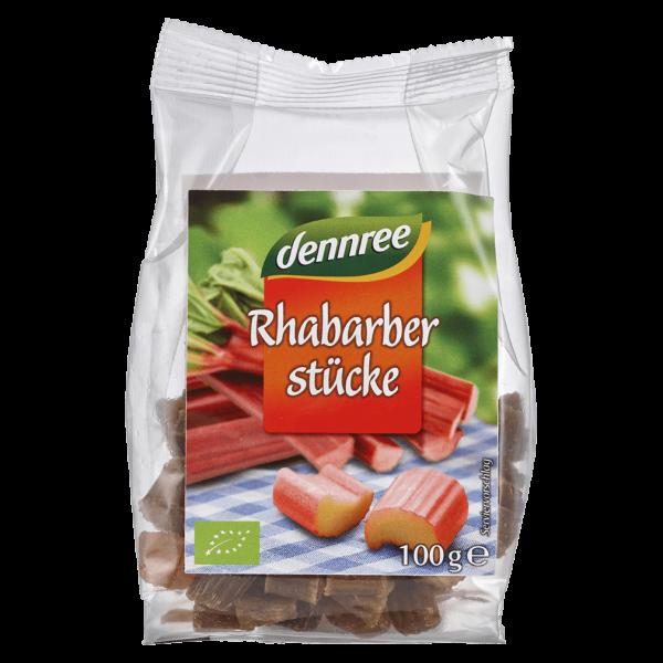 dennree Bio Rhabarber Stücke