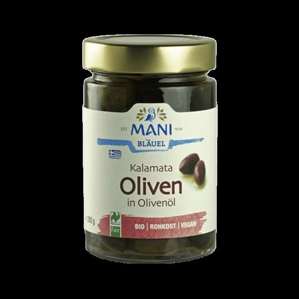 Bio Kalamata Oliven in Olivenöl
