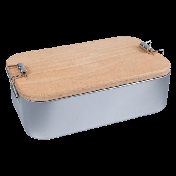 """Memo Lunchbox """"2in1"""" mit Buchenholzdeckel"""