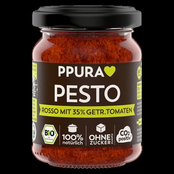 PPura Bio Pesto Rosso mit getrockneten Tomaten