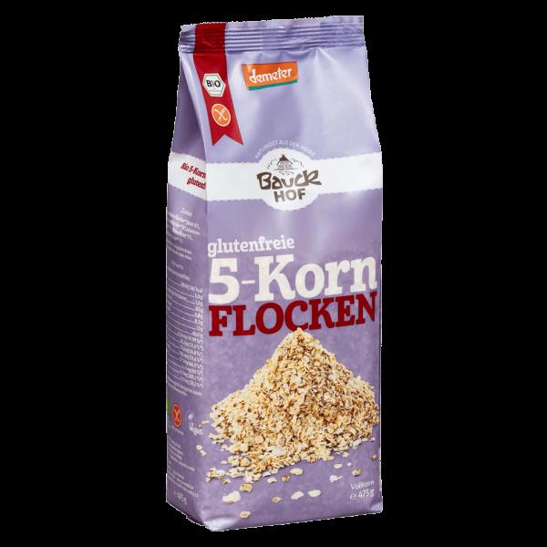Bauckhof  Bio 5-Korn Flocken glutenfrei, 475g