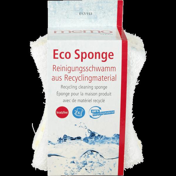Memo Eco Sponge Reinigungsschwamm aus Recyclingmaterial, 2er Set