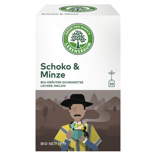 Lebensbaum Bio Schoko & Minze Tee, 40g