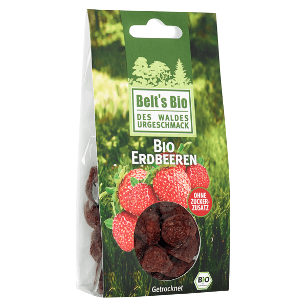 Bio Erdbeeren, getrocknet