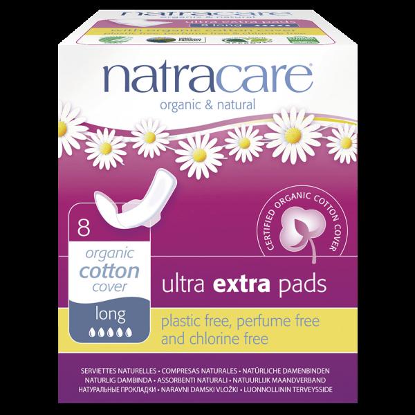 Natracare Ultra Damenbinden Extra Long 8 Stück