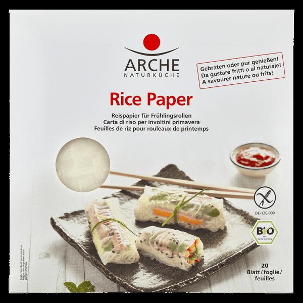 Arche Naturküche Bio Reispapier 20 Blätter