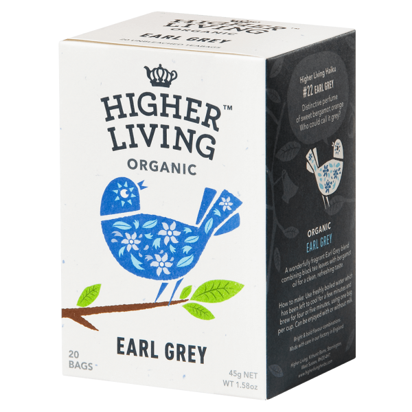 Higher Living Bio Earl Grey, 20Btl