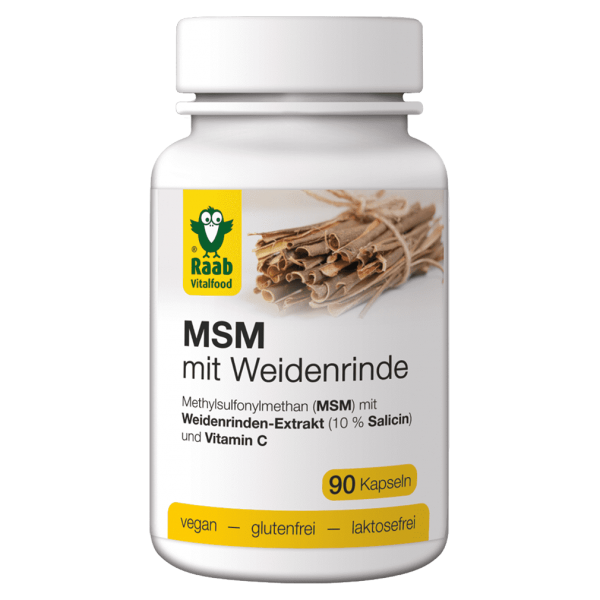 Raab Vitalfood MSM mit Weidenrinde Kapseln 90 Stück