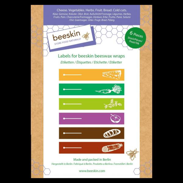 beeskin Etiketten zum Markieren der Bienenwachstücher