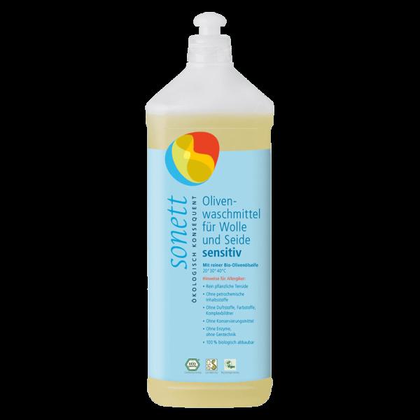 Oliven Waschmittel für Wolle&Seide sensitiv, 1l