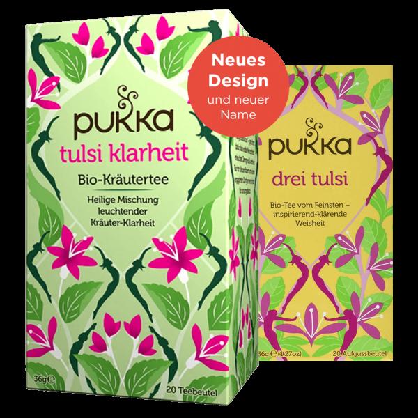 Pukka Bio Tulsi Klarheit Tee (ehemals Drei Tulsi)