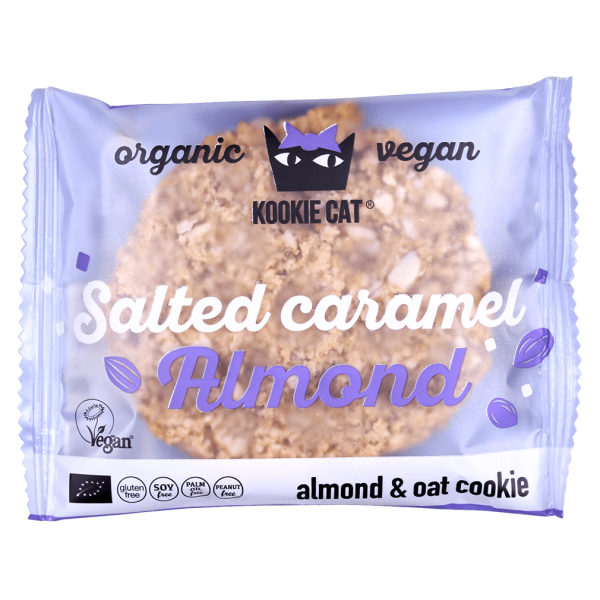 Kookie Cat Bio gesalzener Karamell-Mandel Cookie