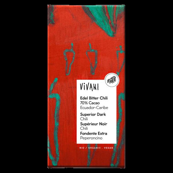 Vivani Bio Edel Bitter Chili 70% Cacao