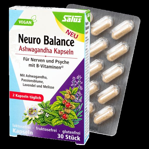 Salus Neuro Balance Ashwagandha Kapseln, 30 Stk