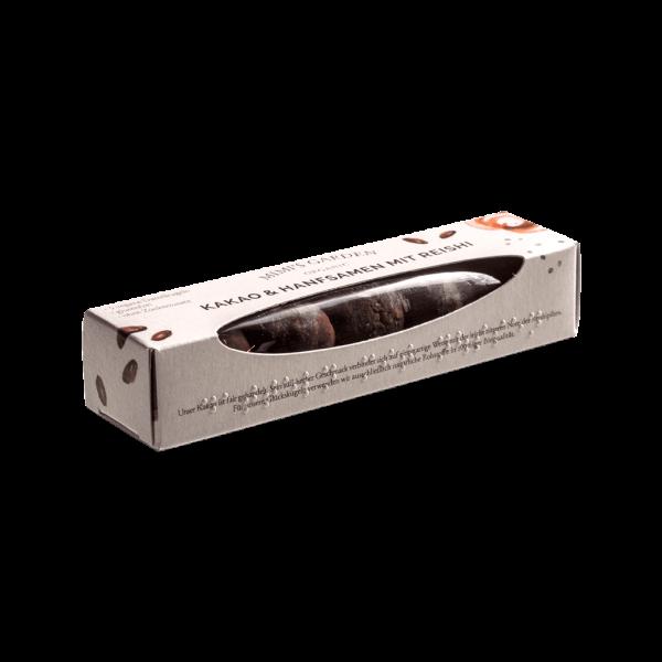 Bio Dattelkugeln Kakao, Reishi & Hanf