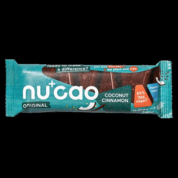 Nucao Bio Kokos Zimt Riegel mit Hanfsamen