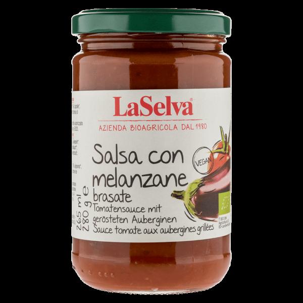 LaSelva Bio Tomatensauce mit gerösteten Auberginen