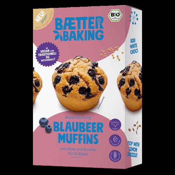 baetter Bio Backmischung Blaubeer Muffins