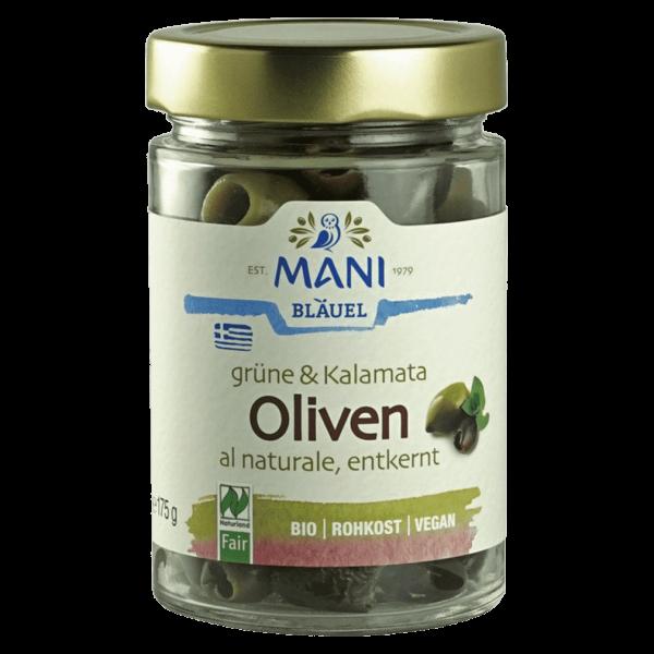 Mani Bio Grüne & Kalamata Oliven