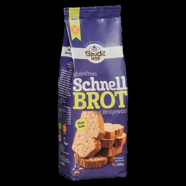 Bauckhof  Bio Schnellbrot mit Brotgewürz glutenfrei