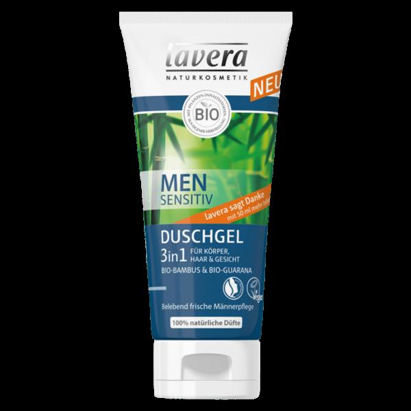 Lavera Naturkosmetik Men sensitiv 3 in 1 Duschgel