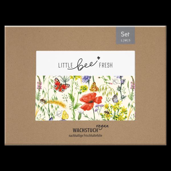 Little Bee Fresh Wachstuch-Set S/M/L, Vegan