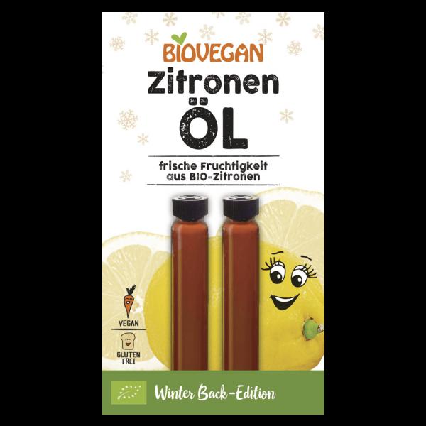 Biovegan Bio Zitronenöl, 2 x 2 ml