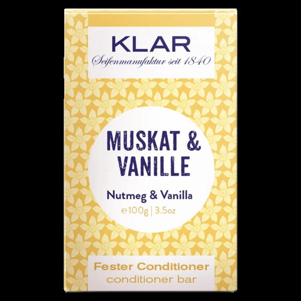 Klar Seifen Fester Conditioner Muskat & Vanille