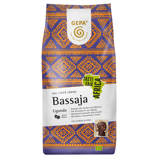 GEPA Bio Café Crema Bassaja, ganze Bohne, 1 kg