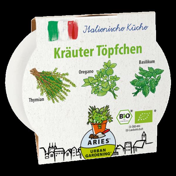 Aries Bio Kräuter Töpfchen Italienische Küche