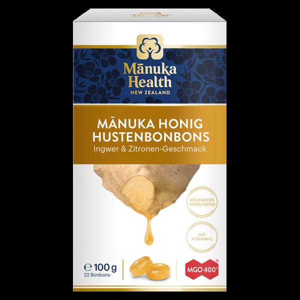 Manuka Health Hustenbonbons Ingwer & Zitrone