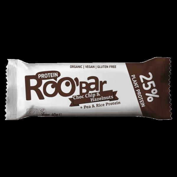 Roobar Bio Proteinriegel Schokolade und Haselnüsse