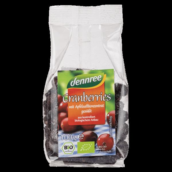 dennree Bio Cranberries mit Apfelsaftkonzentrat gesüßt