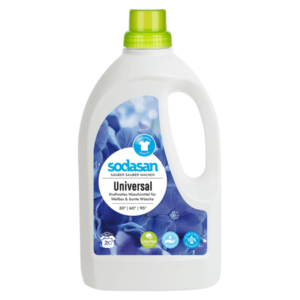 Sodasan Universal-Waschmittel Limette, 1,5l