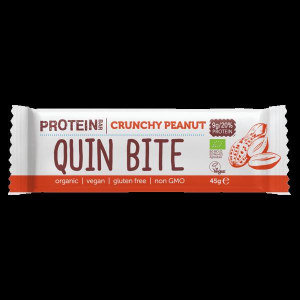 Quin Bite Bio Crunchy Peanut Proteinriegel
